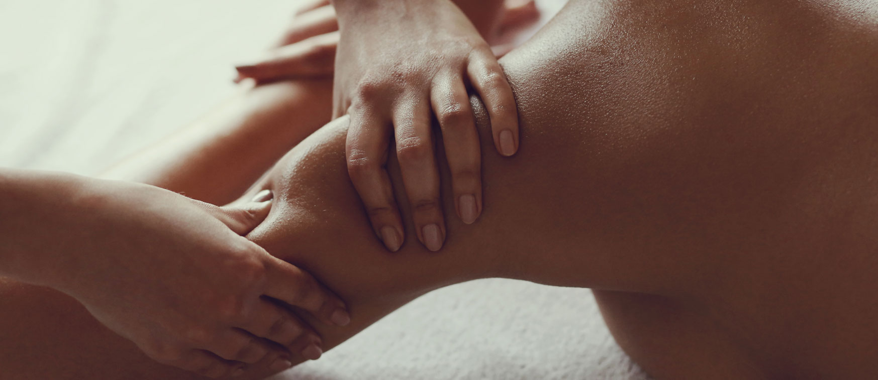 Person receiving massage